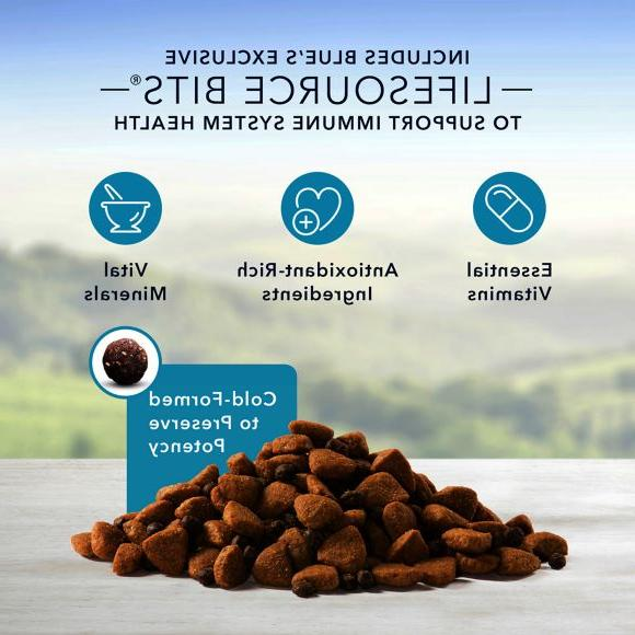 Blue Large Breed Food,Chicken, 30lb Free