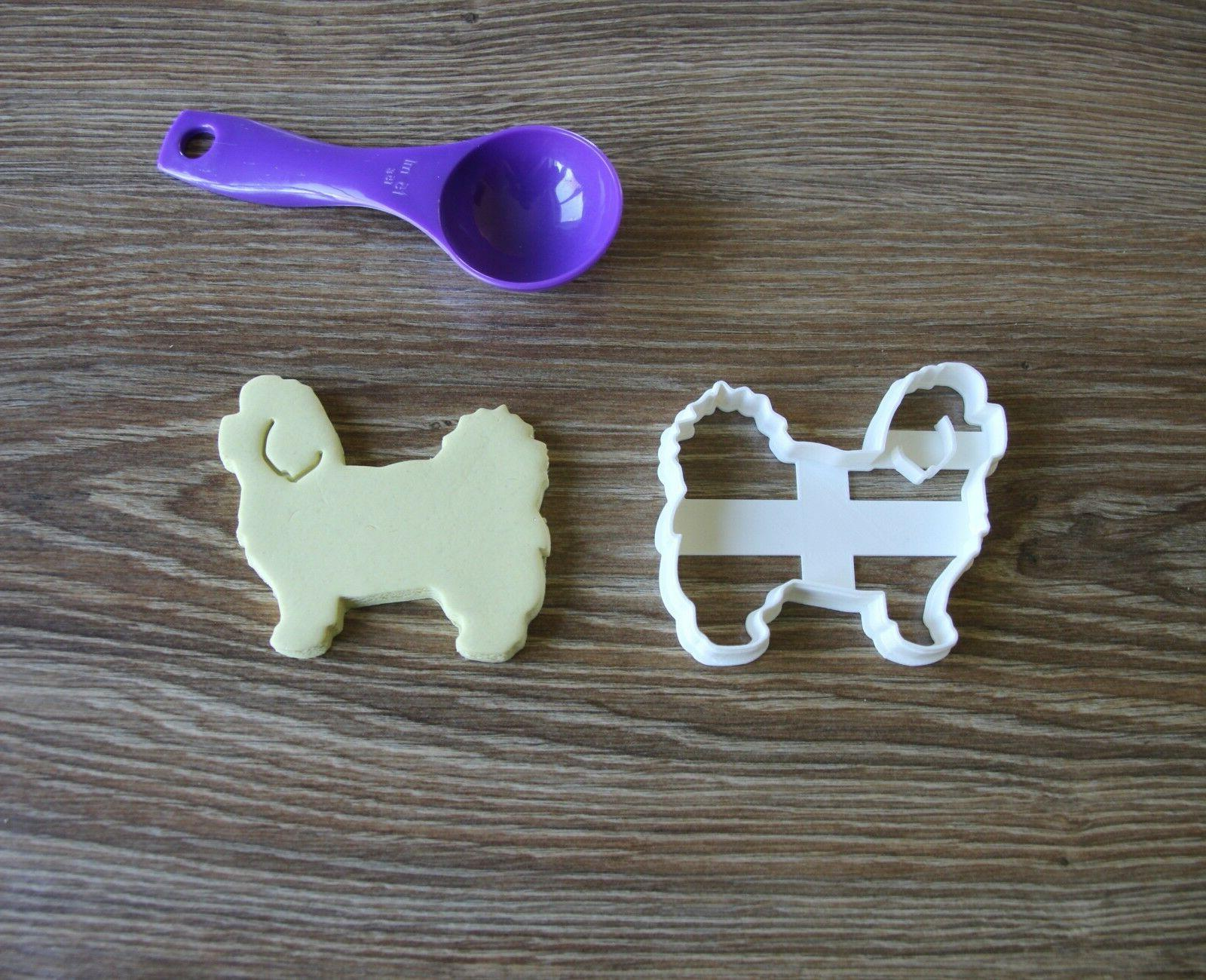 maltese cookie cutter dog pup pet treat