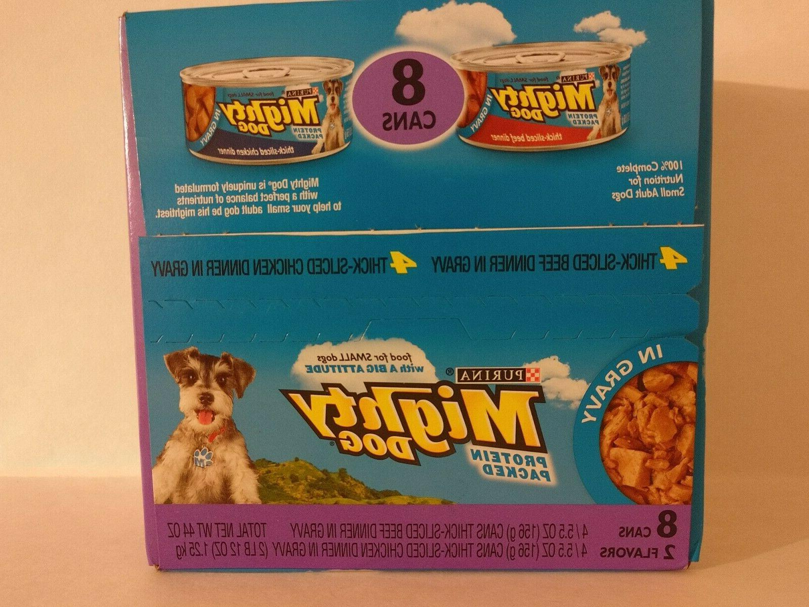 mighty dog 4 cans beef and 4