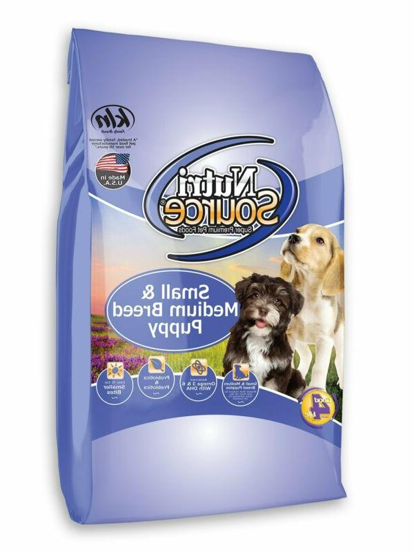 nutrisourcea small and medium breed puppy dog