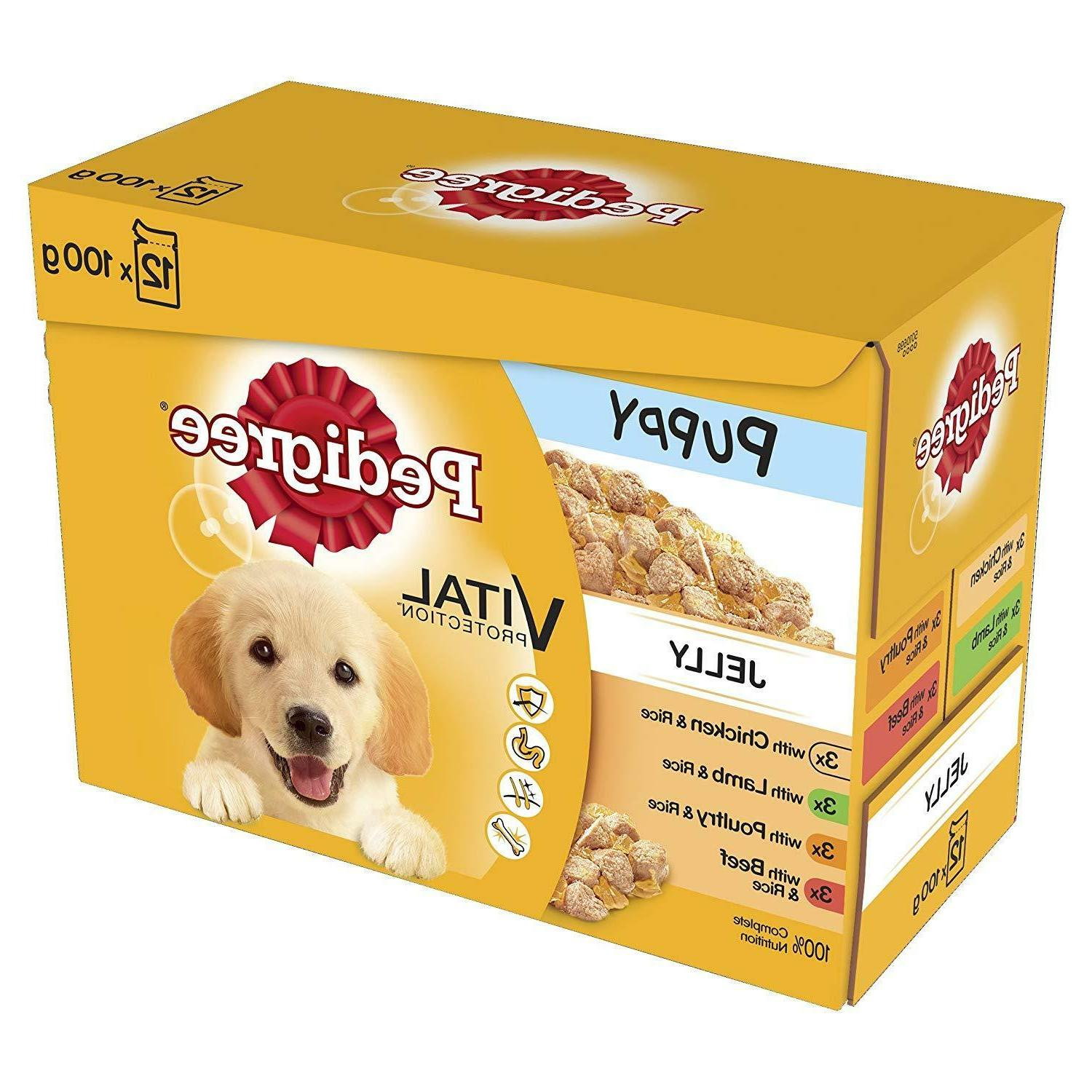pedigree pouch puppy jelly 12 pack 100g