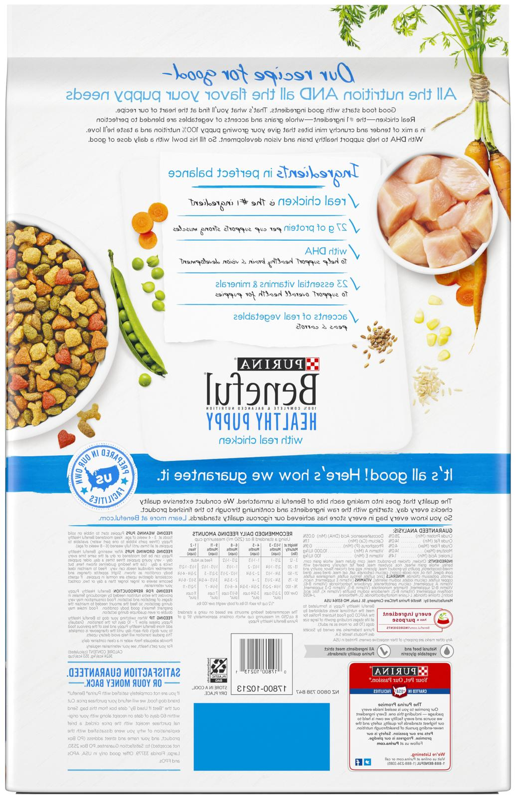 Purina Beneful With Real Chicken Dry Dog Food 15.5 lb.