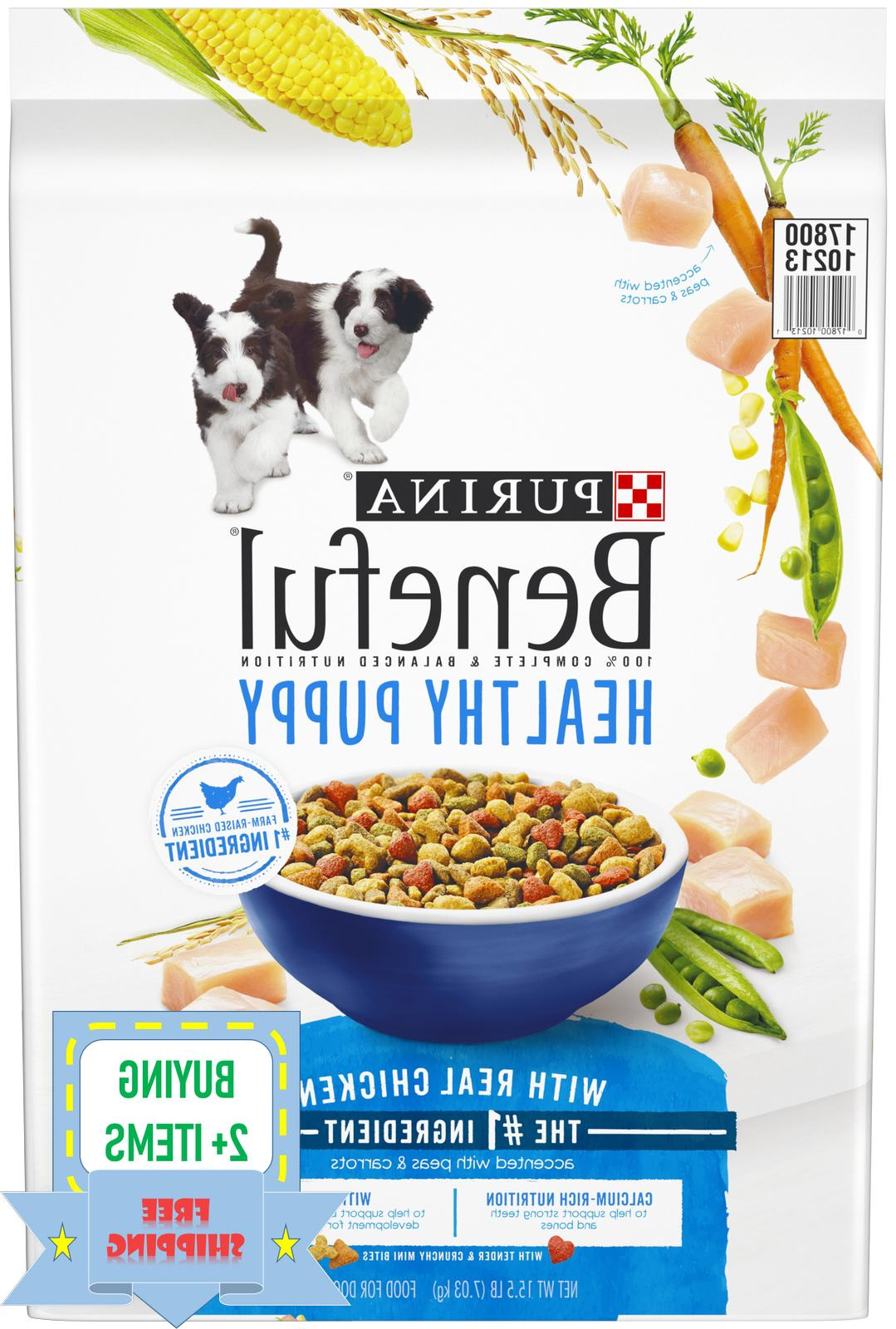 purina healthy puppy with real chicken dry