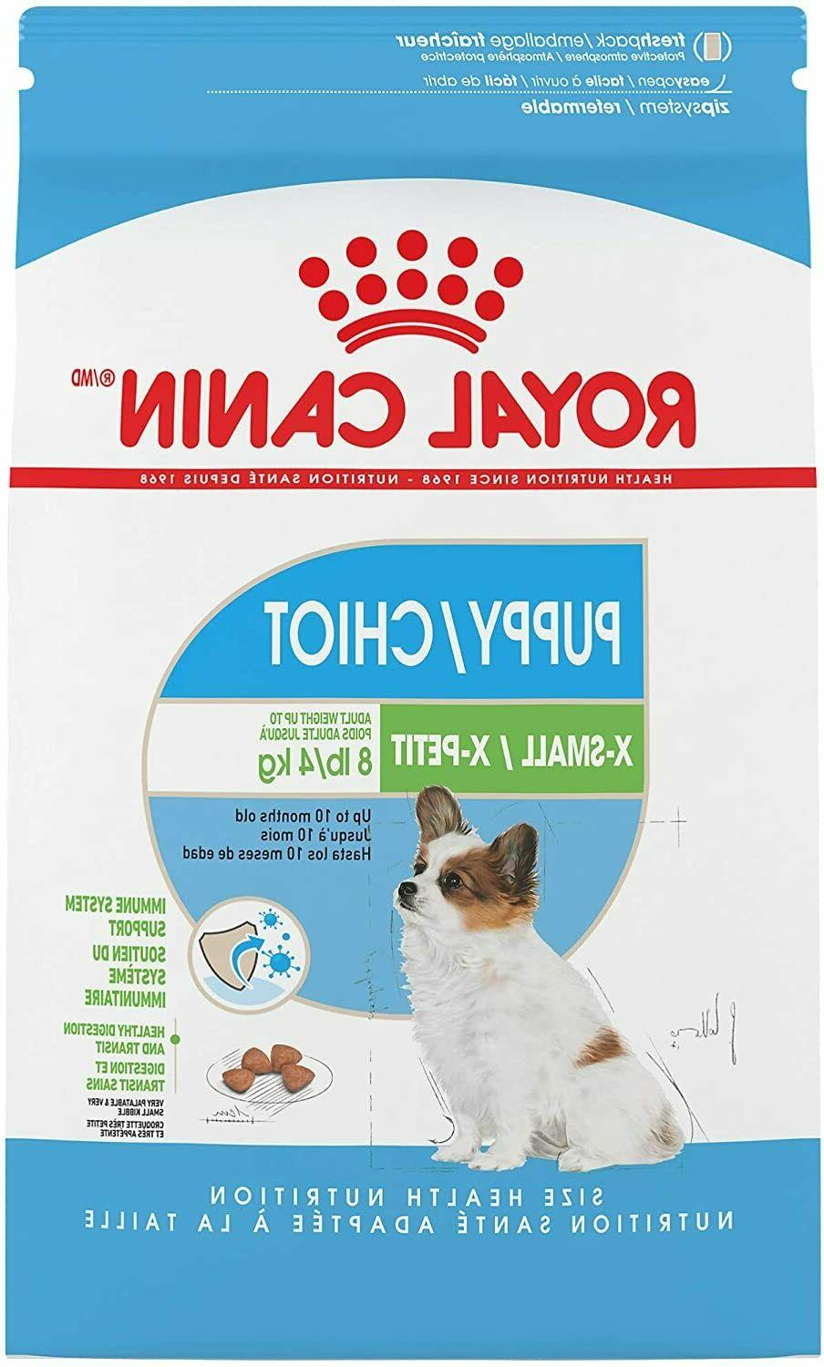 size health nutrition x small puppy dry