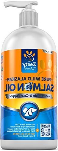 Pure Wild Alaskan Salmon Oil for Dogs & Cats - Supports Join