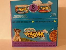Purina Mighty Dog 4 cans beef  & 4 Sliced Chicken dinners 5.