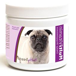 Healthy Breeds Multivitamin for Dogs Chewable for Pug, White