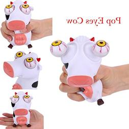 Vinjeely Novelties Squeeze Toys Cows Eyes Pop Out Hand Wrist