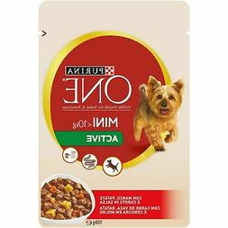 Purina One Puppy Dog Wet Food Beef Potato Flavor Mini Active