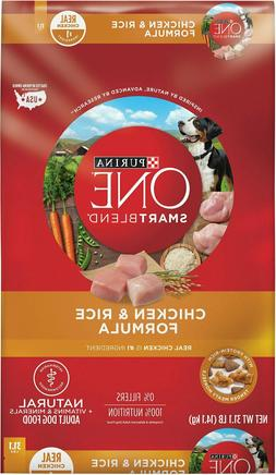 Purina ONE SmartBlend Chicken & Rice Adult Formula Dry Dog F