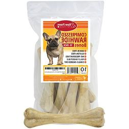 Raw Paws Pet Premium 10-inch Compressed Rawhide Bones for Do