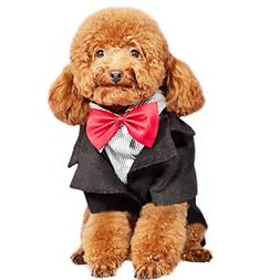 Alfie Pet by Petoga Couture - Tyson Formal Tuxedo with Red B