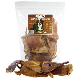 Raw Paws Pet Premium Jumbo Pig Ears for Dogs, 12-count - All