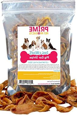 Pig Ears Strips for Dogs - 1 lb Bag  of All Natural Healthy
