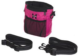 Pink Dog Treat Bag - Treat Training Pouch for Small, Medium