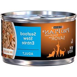 Purina Pro Plan Savor Adult Seafood Stew Entree in Sauce - 2