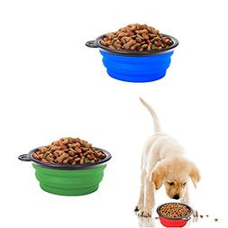 Pop-up Dog Bowl & Pet Bowl - Collapsible Travel Silicone Cam