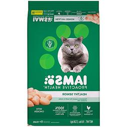 Iams PROACTIVE HEALTH Healthy Senior Dry Cat Food with Chick