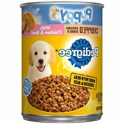 Pedigree Puppy Chopped Ground Dinner Chicken, Beef Adult Can