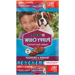 Purina Puppy Chow High Protein Dry Puppy Food, Tender & Crun