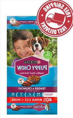Purina Puppy Chow Tender & Crunchy Dry Dog Food, Made with R