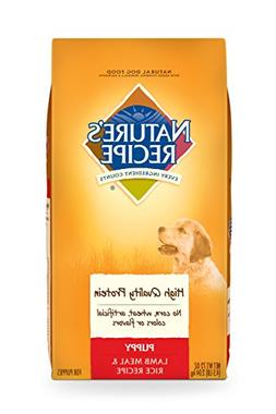 Nature's Recipe Puppy Dry Dog Food, Lamb Meal & Rice Recipe,