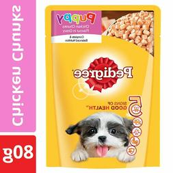 Pedigree Puppy Wet Dog Food Food- Chicken Chunks in Gravy, 8