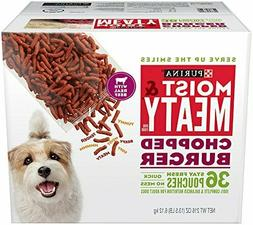 Purina Moist & Meaty Chopped Burger Adult Dry Dog Food, 3.15
