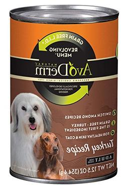 AvoDerm Natural Revolving Menu Turkey Recipe Canned Wet Dog