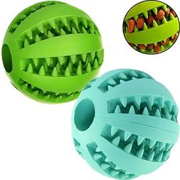 MixMart Natural Rubber Dog Toy Balls  with Minty Scent-2 Pac