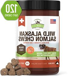 Salmon Oil for Dogs - Grain Free Dog Treats, 120 Chews - Ome