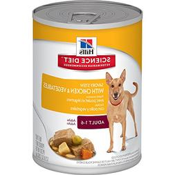 Hill's Science Diet Adult Wet Dog Food, Savory Stew with Chi