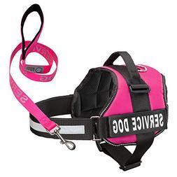 Industrial Puppy Service Dog Harness & Matching Leash Set  