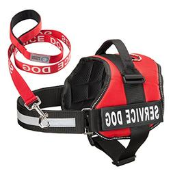 Industrial Puppy Service Dog Harness & Matching Leash Set |