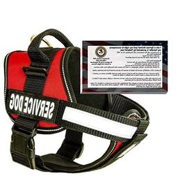 barkOutfitters Service Dog Vest Harness and 50 ADA Info Card