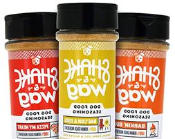 Shake & Wag Dog Food Seasoning Set - Human Grade, Gluten Fre