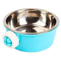 Budd Stainless Steel Pets Water Food Bowl Removable Hanging