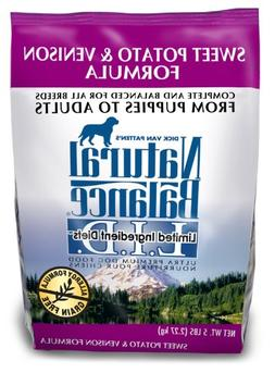 Natural Balance Sweet Potato and Venison Formula Dog Food, 5