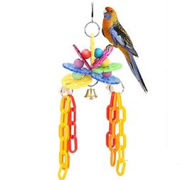 Toy Poodle - Colorful Pet Bird Chewing Playing Toys Singing