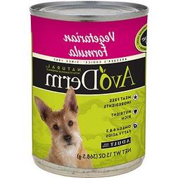 AvoDerm Natural Vegetarian Formula Adult Canned Dog Food, 13