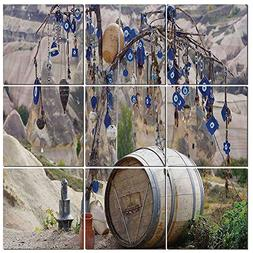 iPrint 9 Pc Wall Art Set Evil Eye,Picturesque Landscape with