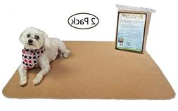 Kluein Pet Washable Pee Pads for Dogs, 2 Pack XL 34 x 36, Be