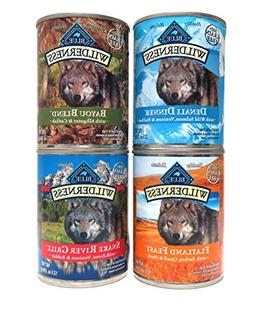 Blue Buffalo Wilderness Grain Free Dog Food Variety Pack, 4