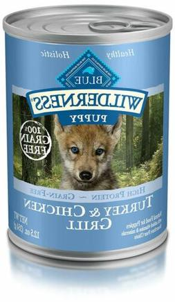 Blue Buffalo Wilderness Turkey & Chicken Canned Puppy Food,